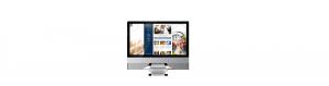 Website on iMac