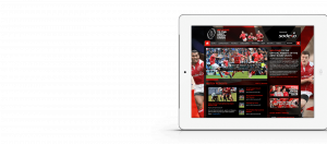 Web Design - Army Rugby Union Website on iPad