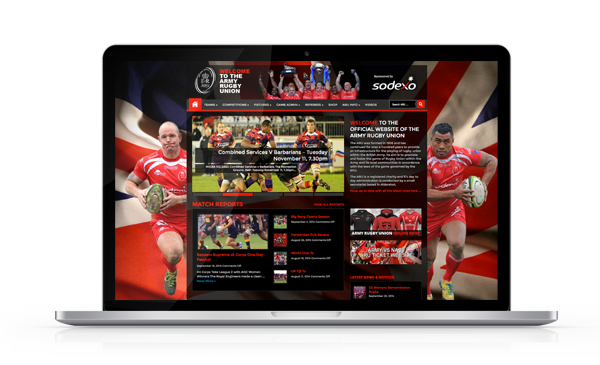 Army Rugby Union Website Project