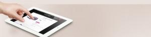 Flori Roberts eCommerce Website on iPad