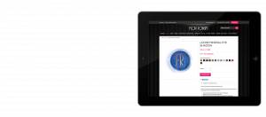 Flori Roberts Website on iPad
