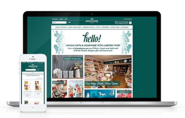Hintons Home eCommerce Website Responsive Design