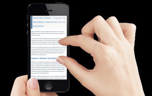 Rimor Engineering Website on iPhone