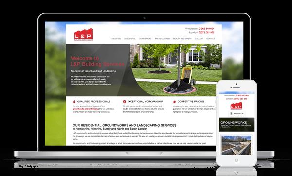 L and P Groundwork Website Responsive Web Design