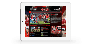 Army Rugby Union Website on iPad