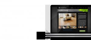 Salisbury Hardwood Flooring Website on Laptop