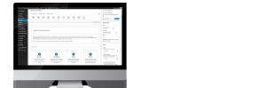 Wordpress Admin Area on Mac Screen
