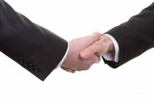 Men Shaking Hands - Choosing a Web Design Company
