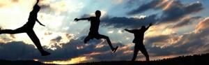 Man Jumping Around - Responsive Design